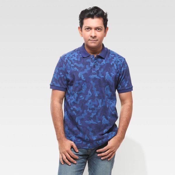 Men Printed polo shirt