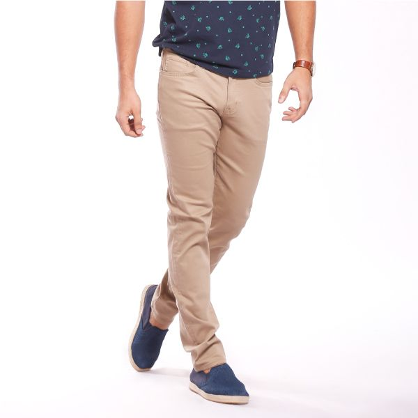 Stretch slim fit straight color jeans