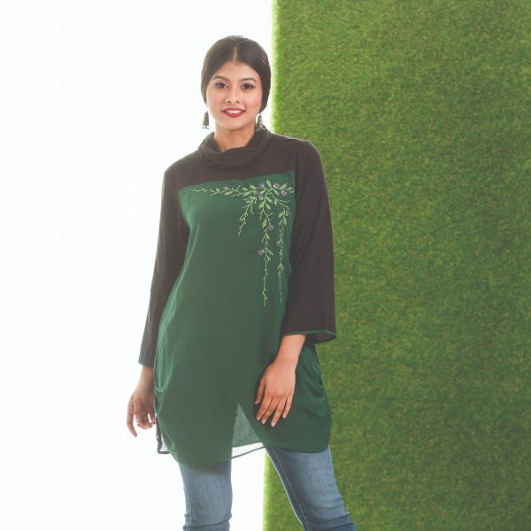 W Cowl Neck Tunic D
