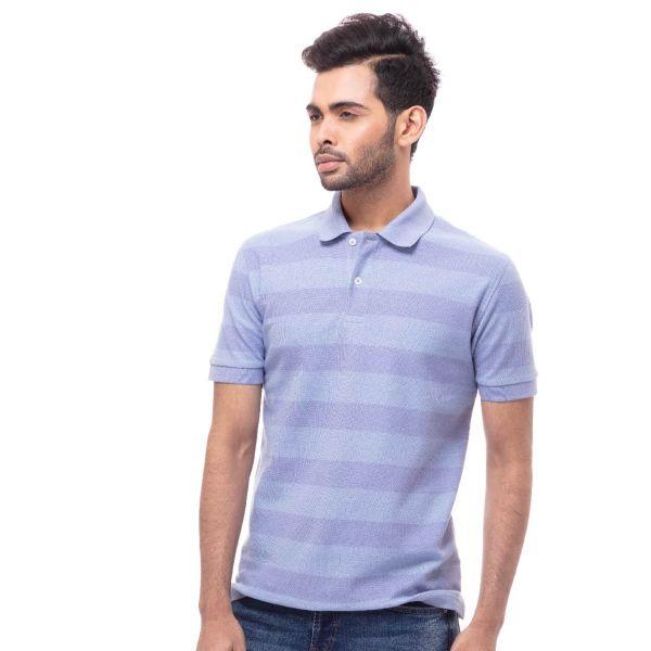 Pique Striped Polo Shirt (S) C