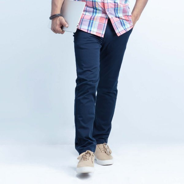 Slim fit chino flat front pants